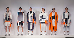 © Licensed to London News Pictures. 01/06/2015. London, UK. Collection by Yvonne Yao. Fashion show of Nottingham Trent University at Graduate Fashion Week 2015. Graduate Fashion Week takes place from 30 May to 2 June 2015 at the Old Truman Brewery, Brick Lane. Photo credit : Bettina Strenske/LNP