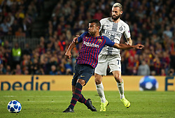 October 24, 2018 - Barcelona, Spain - Marcelo Brozovic and Rafinha during the match between FC Barcelona and Inter, corresponding to the week 3 of the group stage of the UEFA Champions Leage, played at the Camp Nou Stadium, on 24th October 2018, in Barcelona, Spain. (Credit Image: © Joan Valls/NurPhoto via ZUMA Press)