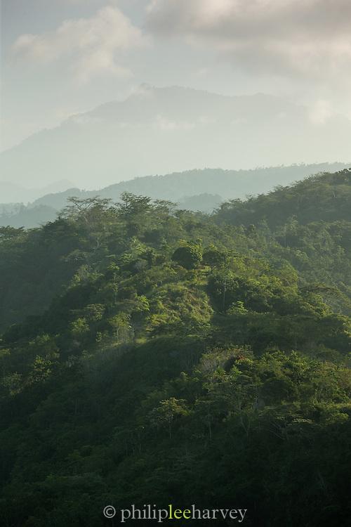 View of wooded ridge above Tufi, Cape Nelson, Oro Province, Papua New Guinea