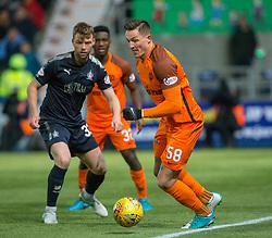 Dundee United's Emil Lyng. Falkirk 6 v 1 Dundee United, Scottish Championship game played 6/1/2018 played at The Falkirk Stadium.