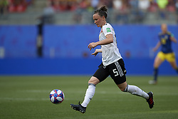June 29, 2019 - Rennes, France - Marina Hegering (Sgs Essen) of Germany in action during the 2019 FIFA Women's World Cup France Quarter Final match between Germany and Sweden at Roazhon Park on June 29, 2019 in Rennes, France. (Credit Image: © Jose Breton/NurPhoto via ZUMA Press)