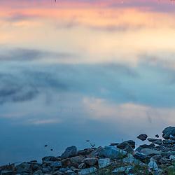 Dawn in Back Cove in Portland, Maine.