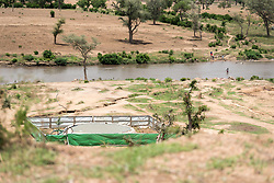 30 May 2019, Mokolo, Cameroon: Built by the Lutheran World Federation, a water pumping station transports and purifies water from Mayo Luguéré ('River Muguéré') to the Minawao camp. The Minawao camp for Nigerian refugees, located in the Far North region of Cameroon, hosts some 58,000 refugees from North East Nigeria. The refugees are supported by the Lutheran World Federation, together with a range of partners.