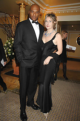 Actor COLIN SALMON and FIONA HAWTHORNE at the Chain of Hope Ball held at The Dorchester, Park Lane, London on 4th February 2008.<br /><br />NON EXCLUSIVE - WORLD RIGHTS