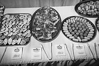 VALLO DELLA LUCANIA (SA) - 4 FEBBRAIO 2018: Il buffet per l'inaugurazione del comitato elettorale di Franco Alfieri (Partito Democratico), candidato alla Camera dei Deputati nel collegio uninominale di Agropoli (Campania), ex sindaco di Agropoli e capo della segreteria politica del governatore della Regione Campania Vincenzo De Luca,  a Vallo della Lucania (SA) il 4 febbraio 2018.<br /> <br /> Le elezioni politiche italiane del 2018 per il rinnovo dei due rami del Parlamento – il Senato della Repubblica e la Camera dei deputati – si terranno domenica 4 marzo 2018. Si voterà per l'elezione dei 630 deputati e dei 315 senatori elettivi della XVIII legislatura. Il voto sarà regolamentato dalla legge elettorale italiana del 2017, soprannominata Rosatellum bis, che troverà la sua prima applicazione<br /> <br /> ###<br /> <br /> VALLO DELLA LUCANIA, ITALY - 4 FEBRUARY 2018: The buffet for the inauguration of the electoral committee of Franco Alfieri (Democratic Party / Partito Democratico), former mayor of Agropoli chief of staff of the governor of the Campania region Vincenzo De Luca, is seen here in Vallo della Lucania, Italy, on February 4th 2018.<br /> <br /> The 2018 Italian general election is due to be held on 4 March 2018 after the Italian Parliament was dissolved by President Sergio Mattarella on 28 December 2017.<br /> Voters will elect the 630 members of the Chamber of Deputies and the 315 elective members of the Senate of the Republic for the 18th legislature of the Republic of Italy, since 1948.