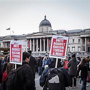 Londra il giorno dopo l'incidente a Westminster: la commemorazione in Trafalgar Square<br /> <br /> London: the day after the accident in Westminster. Commemoration of the victims in Trafalgar Square