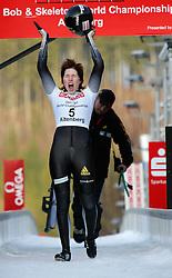 22-02-2008 SKELETON: WERELDKAMPIOENSCHAPPEN: ALTENBERG<br /> Wereldkampioen Anja Huber GER<br /> ©2010- FRH-nph / Peter Goermer