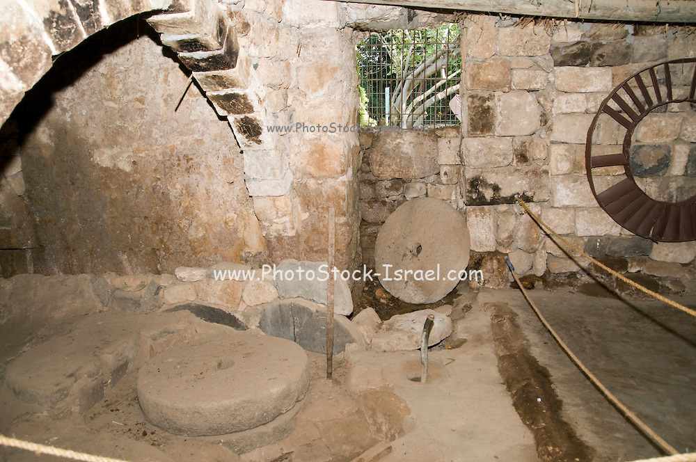 A water-powered (Chimney type) flour mill Hermon Stream Nature reserve and Archaeological Park (Banias) Golan Heights Israel
