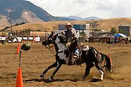 Cowboy Mounted Shooting, Bozeman Montana, Paint Horse