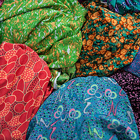 Fabrics for sale at the Phú Nhuận vegetable market in Ho Chi Minh City, also known as Saigon, Vietnam.