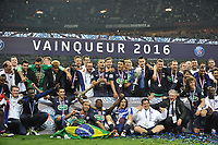 SOCCER : Finale coupe de France - 05/21/2016<br /> Marseille - Paris Saint Germain 2 - 4 <br /> Zlatan Ibrahimovic (psg) - THIAGO SILVA (psg) - LAYVIN KURZAWA (psg) - JAVIER PASTORE (psg) - DAVID LUIZ (psg) - JEAN LOUIS GASSET (ENTRAINEUR ADJOINT PSG) - SALVATORE SIRIGU (psg) - PRESNEL KIMPEMBE (psg) - KEVIN TRAPP (psg) - MARQUINHOS (psg) - NICOLAS DOUCHEZ (psg) - MAXWELL (psg) - JEAN KEVIN AUGUSTIN (psg) - ANGEL DI MARIA (psg) - LUCAS MOURA (psg) - SERGE AURIER (psg) - ERIC ROLLAND (MEDECIN DU PSG) - EDINSON CAVANI (psg) - ZOUMANA CAMARA - JOIE - TROPHEENorway only