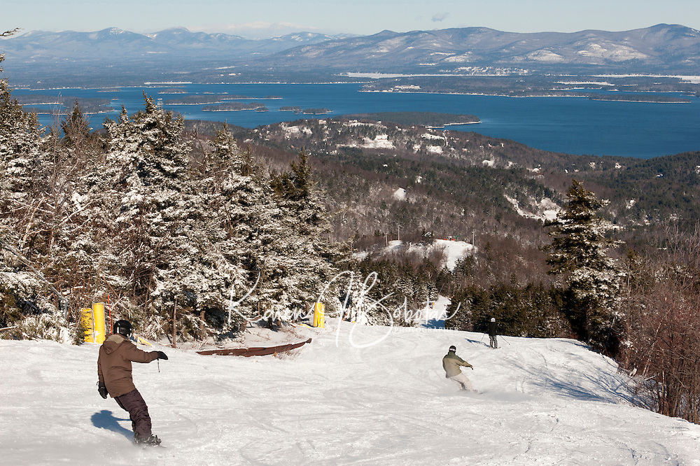 With the recent snowfall skiers and riders have flocked to Gunstock Mountain Resort to enjoy great winter ski conditions.  (Karen Bobotas/for the Laconia Daily Sun)
