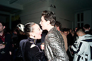 ALEX BOX; ERIN O'CONNOR, 30 Years Of i-D - book launch. Q Book 5-8 Lower John Street, London . 4 November 2010. -DO NOT ARCHIVE-© Copyright Photograph by Dafydd Jones. 248 Clapham Rd. London SW9 0PZ. Tel 0207 820 0771. www.dafjones.com.