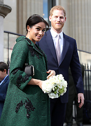 The Duke and Duchess of Sussex leave following a visit to Canada House in London for a Commonwealth Day youth event celebrating the diverse community of young Canadians living in London and around the UK.