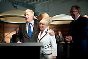 Boris Johnson; Barbara Windsor,  attend The Galleries of Modern London launch party at the Museum of London on May 27, 2010 in London. <br /> -DO NOT ARCHIVE-© Copyright Photograph by Dafydd Jones. 248 Clapham Rd. London SW9 0PZ. Tel 0207 820 0771. www.dafjones.com.