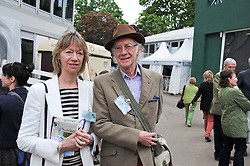 ROGER MCGOUGH and his wife HILARY  at the 2012 RHS Chelsea Flower Show held at Royal Hospital Chelsea, London on 21st May 2012.