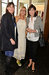 Left to right, VANESSA TAYLOR, SHONA WILKINSON and LUCY HERVEY-BATHURST at a ladies lunch in aid of the charity Maggie's held at Le Cafe Anglais, 8 Porchester Gardens, London on 29th April 2014.