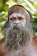 Portrait of an Australian Aborigine, New South Wales, Australia - RESERVED USE