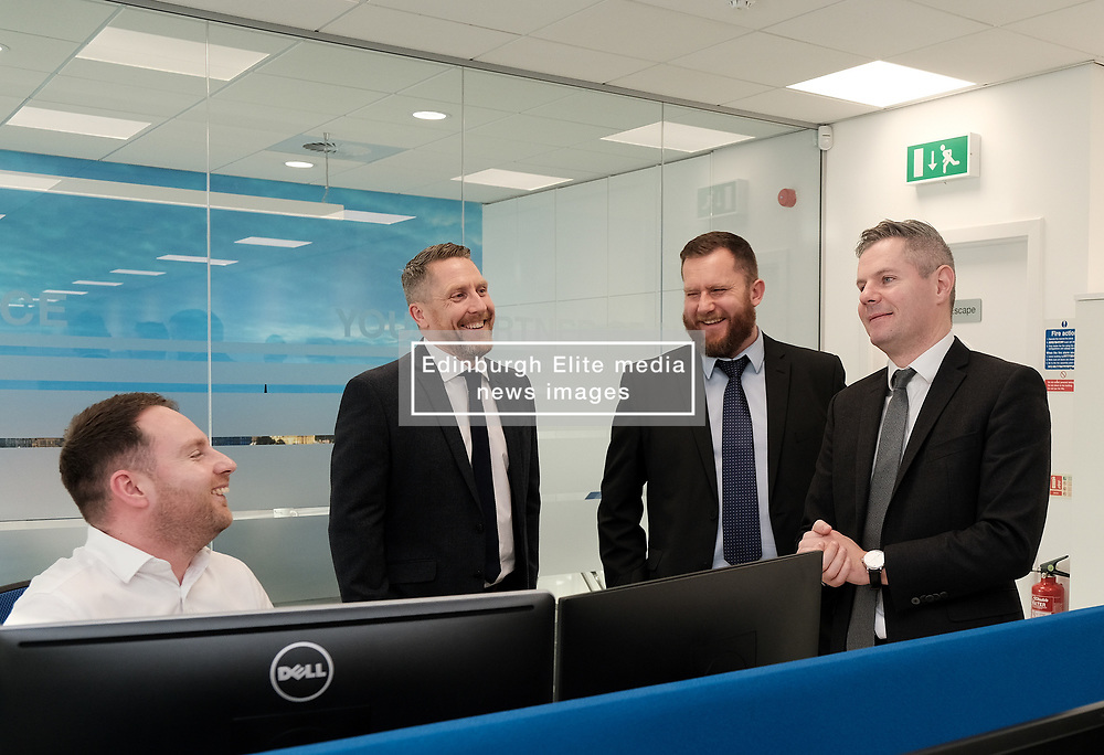 Derek Mackay visit, Wednesday, 18th December 2019<br /> <br /> Economy Secretary Derek Mackay today visited Emtec Group in Ratho Station to officially open their new office and comment on the latest GDP statistics.<br /> <br /> Pictured: Scottish Government Economy Secretary Derek Mackay meets some of the employees<br /> <br /> Alex Todd   Edinburgh Elite media
