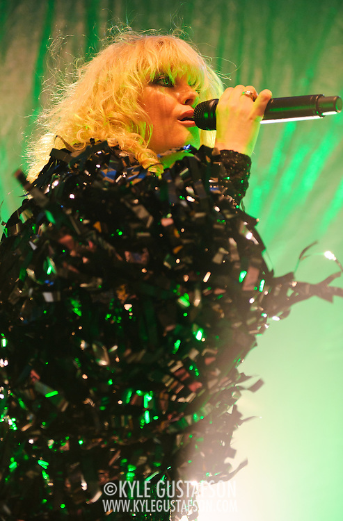 Washington, D.C. - June 21st, 2010:  British electro artist Goldfrapp perform at the 9:30 Club in front of a sold out audience on the first night of their US tour.  The group is touring behind their latest album, Head First. (Photo by Kyle Gustafson/For The Washington Post)