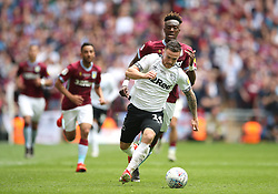 Derby County's Jack Marriott in action during the game
