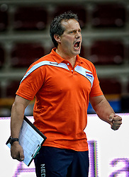 27-09-2014 ITA: World Championship Volleyball Rusland - Nederland, Verona<br /> Nederland verliest met 3-1 van Rusland / Een teleurgestelde Coach Gido Vermeulen
