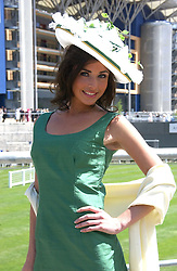 RACHEL LITTLEJOHNS at the 3rd day - Ladies Day of Roayl Ascot 2006 on 22nd June 2006.<br />
