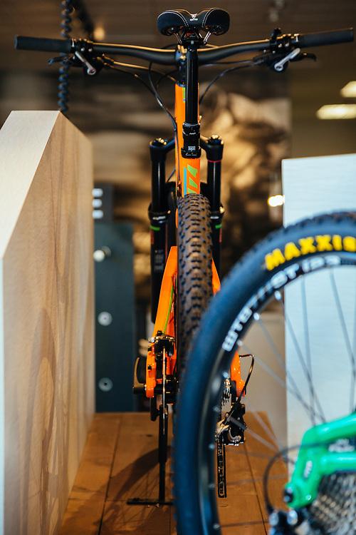 Santa Cruz bicyles headquarters showroom.