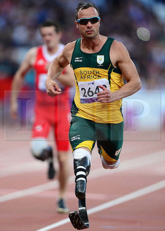 © Licensed to London News Pictures. 14/02/2013. London, United Kingdom. South African Paralympic athlete Oscar Pistorius has been arrested over the fatal shooting of his girlfriend at his home in Pretoria, local media say..Police confirmed to local media that a woman - who died at the scene - was shot in the head and arm..The precise circumstances surrounding the incident are unclear. Reports say he may have mistaken her for a burglar.. Photo credit : Justin Setterfield/LNP
