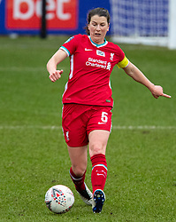 BIRKENHEAD, ENGLAND - Sunday, March 14, 2021: Liverpool's captain Niamh Fahey during the FA Women's Championship game between Liverpool FC Women and Coventry United Ladies FC at Prenton Park. Liverpool won 5-0. (Pic by David Rawcliffe/Propaganda)