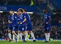 Football - 2018 / 2019 EFL Carabao Cup (League Cup) - Semi-Final, Second Leg: Chelsea (0) vs. Tottenham Hotspur (1)<br /> <br /> Anxious Chelsea players await their penalty kicks at Stamford Bridge <br /> <br /> COLORSPORT/DANIEL BEARHAM