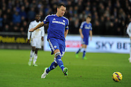 John Terry of Chelsea in action.Barclays Premier League match, Swansea city v Chelsea at the Liberty Stadium in Swansea, South Wales on Saturday 17th Jan 2015.<br /> pic by Andrew Orchard, Andrew Orchard sports photography.