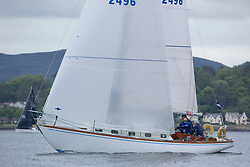 Day 1 Scottish Series, SAILING, Scotland.<br /> <br /> Class 6, Valhalla of Ashton, Swan 36, GBR2496<br /> <br /> The Scottish Series, hosted by the Clyde Cruising Club is an annual series of races for sailing yachts held each spring. Normally held in Loch Fyne the event moved to three Clyde locations due to current restrictions. <br /> <br /> Light winds did not deter the racing taking place at East Patch, Inverkip and off Largs over the bank holiday weekend 28-30 May. <br /> <br /> Image Credit : Marc Turner / CCC