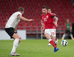 Pierre Emile Højbjerg (Danmark) under UEFA Nations League kampen mellem Danmark og Belgien den 5. september 2020 i Parken, København (Foto: Claus Birch).