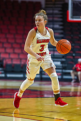NORMAL, IL - November 05: Mary Crompton during a college women's basketball game between the ISU Redbirds and the Truman State Bulldogs on November 05 2019 at Redbird Arena in Normal, IL. (Photo by Alan Look)