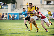 University of Wyoming takes on the University of Utah at Red Bull Uni 7s Rugby Qualifiers at Infinity Park in Glendale, CO, USA, on 25 August, 2016.