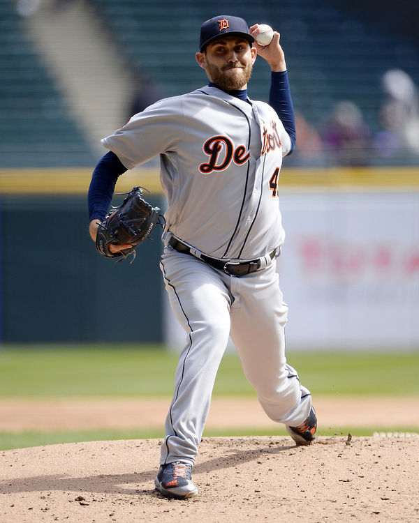 CHICAGO - APRIL 06:  Matthew Boyd #48 of the Detroit Tigers pitches against the Chicago White Sox on April 6, 2017 at Guaranteed Rate Field in Chicago, Illinois.  The White Sox defeated the Tigers 11-2.  (Photo by Ron Vesely)   Subject:  Matthew Boyd