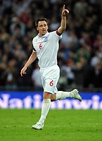 John Terry Celebrates Scoring 2nd goal<br /> England 2008/09<br /> England V Ukraine (2-1) 01/04/09 World Cup Qualifier at Wembley Stadium <br /> Photo Robin Parker Fotosports International