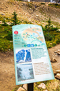 Trail sign at Mount Edith Cavell, Jasper National Park, Alberta Canada