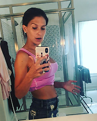 """Hilaria Baldwin releases a photo on Instagram with the following caption: """"Don\u2019t have time to do crunches? Try this... #wegotthis2018 (I shot this earlier and just had time to put it up because, you know...kids \ud83d\ude02\ud83e\udd37\ud83c\udffb\u200d\u2640\ufe0f)"""". Photo Credit: Instagram *** No USA Distribution *** For Editorial Use Only *** Not to be Published in Books or Photo Books ***  Please note: Fees charged by the agency are for the agency's services only, and do not, nor are they intended to, convey to the user any ownership of Copyright or License in the material. The agency does not claim any ownership including but not limited to Copyright or License in the attached material. By publishing this material you expressly agree to indemnify and to hold the agency and its directors, shareholders and employees harmless from any loss, claims, damages, demands, expenses (including legal fees), or any causes of action or allegation against the agency arising out of or connected in any way with publication of the material."""