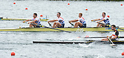 Eton Dorney, Windsor, Great Britain,..2012 London Olympic Regatta, Dorney Lake. Eton Rowing Centre, Berkshire[ Rowing]...Description;   GBR LM4- BowPeter CHAMBERS, Rob WILLIAMS, Richard CHAMBERS, and Chris BARTLEY, racing in the Semi Final A/B 1 at Dorney Lake. 12:40:12  Tuesday  31/07/2012 [Mandatory Credit: Peter Spurrier/Intersport Images]  .