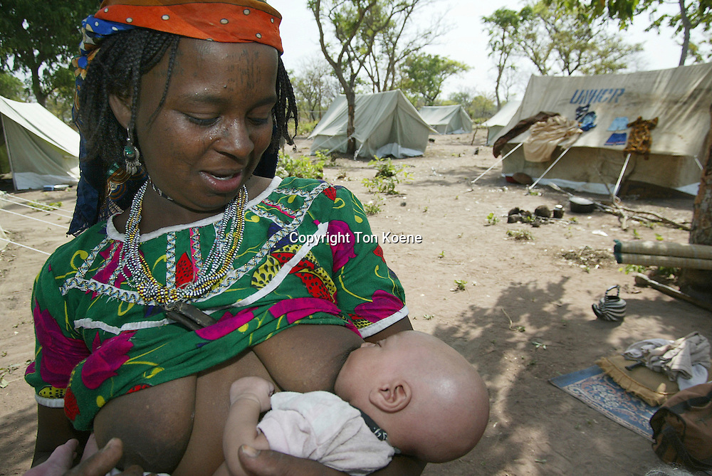 Sudanese refugees in a camp in Chad