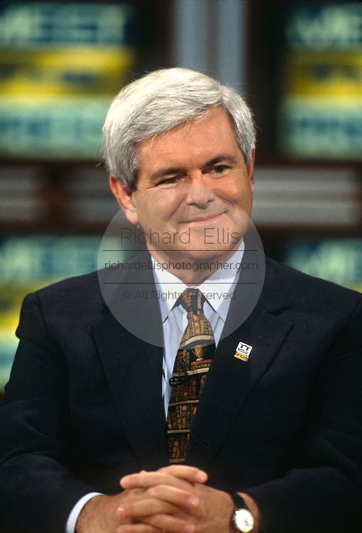Speaker Newt Gingrich on NBC's Meet the Press September 15, 1996 in Washington, DC.