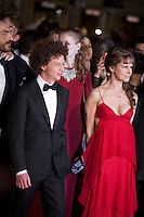 Director Michel Franco and  actress Nailea Norvind<br /> at the gala screening for the film Chronic at the 68th Cannes Film Festival, Friday 22nd May 2015, Cannes, France.