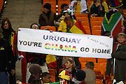 ©Jonathan Moscrop - LaPresse<br /> 02 07 2010 Johannesburg ( Sud Africa )<br /> Sport Calcio<br /> Uruguay vs Ghana - Mondiali di calcio Sud Africa 2010 Quarti di finale - Soccer City Johannesburg<br /> Nella foto: tifosi allo stadio<br /> <br /> ©Jonathan Moscrop - LaPresse<br /> 02 07 2010 Johannesburg ( South Africa )<br /> Sport Soccer<br /> Uruguay versus Ghana - FIFA 2010 World Cup South Africa Quarter final - Soccer City Stadium<br /> In the Photo: fans at the stadium