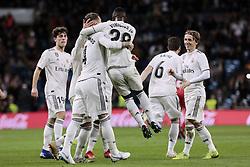 January 24, 2019 - Madrid, Spain - Real Madrid's Sergio Ramos celebrates goal during Copa del Rey match between Real Madrid and Girona FC at Santiago Bernabeu Stadium. (Credit Image: © Legan P. Mace/SOPA Images via ZUMA Wire)