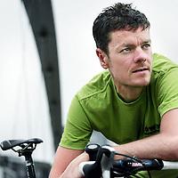 Nederland,Maastricht ,23 juli 2007..Ex prof wielrenner Marc Lotz in zijn woonplaats Maastricht.