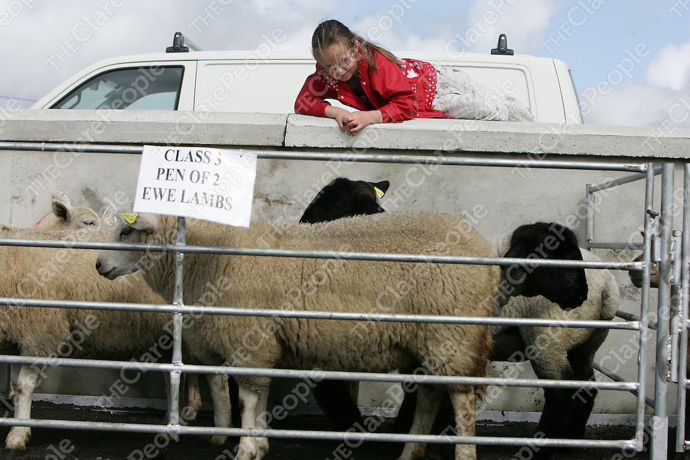 PIctured at the Mullagh show in County clare on Sunday 21st August 2011 were Caitlin Casey (8 yrs)<br /> Emma Jervis Press 22