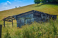 An abandoned shack on a hill in the Blue Ridge Mts.