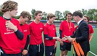 AMSTELVEEN  - finale Jongens Oud.  Goois Lyceum-Maerlant Lyceum.  Goois Lyceumwint de titel. .  NK Schoolhockey.    COPYRIGHT  KOEN SUYK